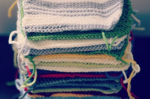 un peu de tricot...