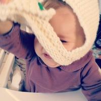 un peu de tricot..snood cagoule..