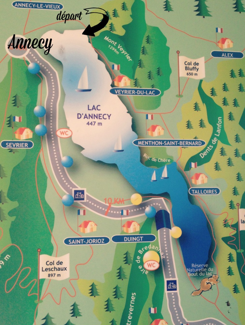 tour du lac d'annecy en vélo, miss thelma