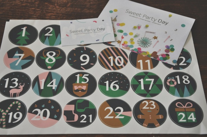 stickers calendrier de l'avent